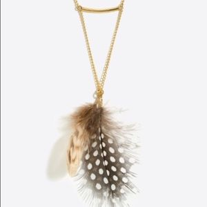 J. Crew  Gold chain feather necklace. NWT❗️